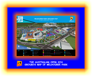 Aussie Open 2014 Grouds Map