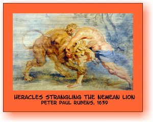 Heracles and the Nemean Lion Rubens