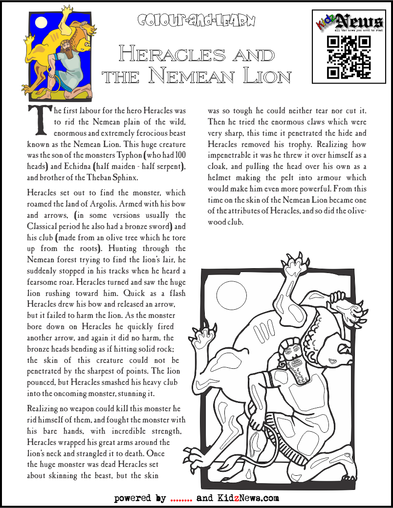 Heracles and the Nemean Lion
