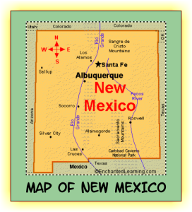 map of new mexico