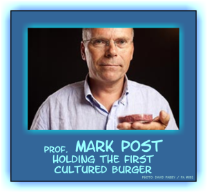 Mark Post with cultured burger