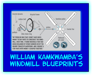 William Kamkwamba blueprints