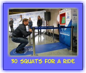 30 squats for a ride