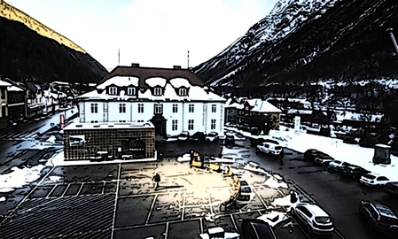 Rjukan's market square