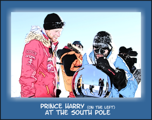 Prince Harry at the south pole 2013