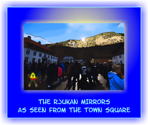 Rjukan mirrors from town square