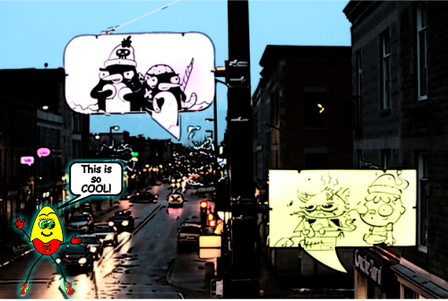 Comic Book Streetlights Montreal Featured